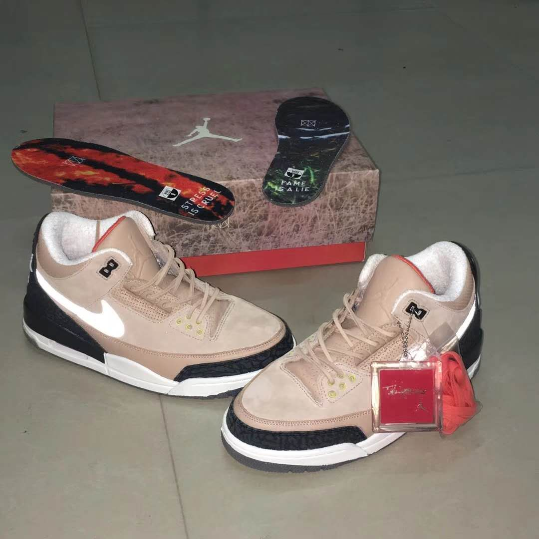 "huge selection of 0c46b 62dbc Justin Timberlake Air Jordan 3 Retro JTH ""Bio Beige"" Detail ..."