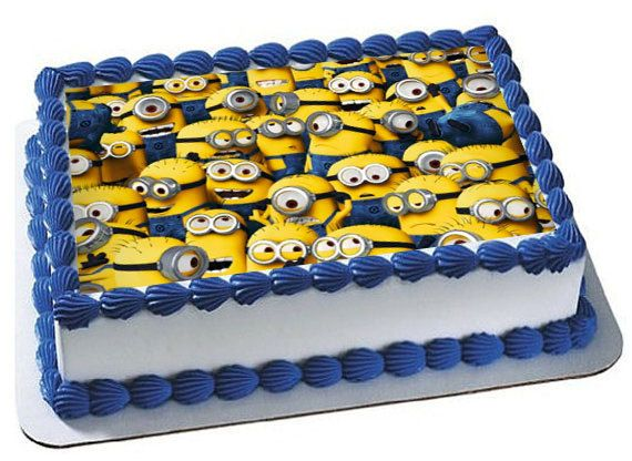 Despicable Me Minions Cake Topper Minions Birthday Party Minions