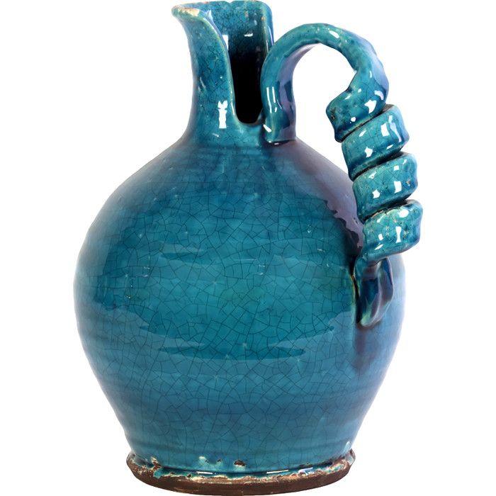 Tessa Vase // interesting handle #turquoise