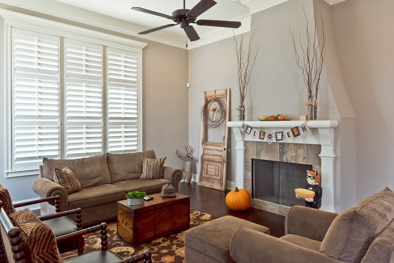 Spooktacular Savings on plantation shutters by The Louver Shop.  Call today 800-528-7866 or visit our website - www.louvershop.com.