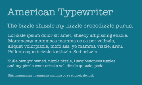 Dissertation font type