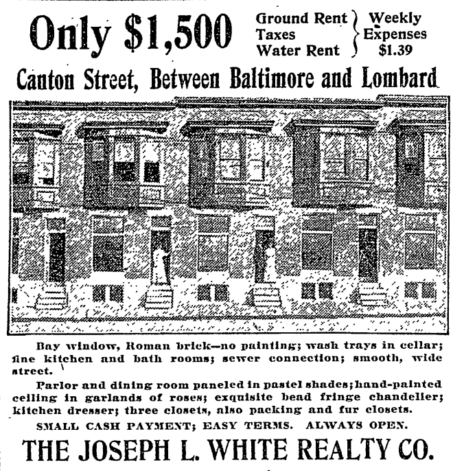 Does Anyone Recognize Where This Would Be Today This Advertisement Is For Real Estate Back In 1909 In The Baltimor Historic Baltimore Baltimore Baltimore City