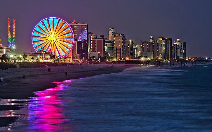 Myrtle Beach At Night It Is Beautiful Can T Wait For The Kids To See They Re Ger Now And Will Reciate More