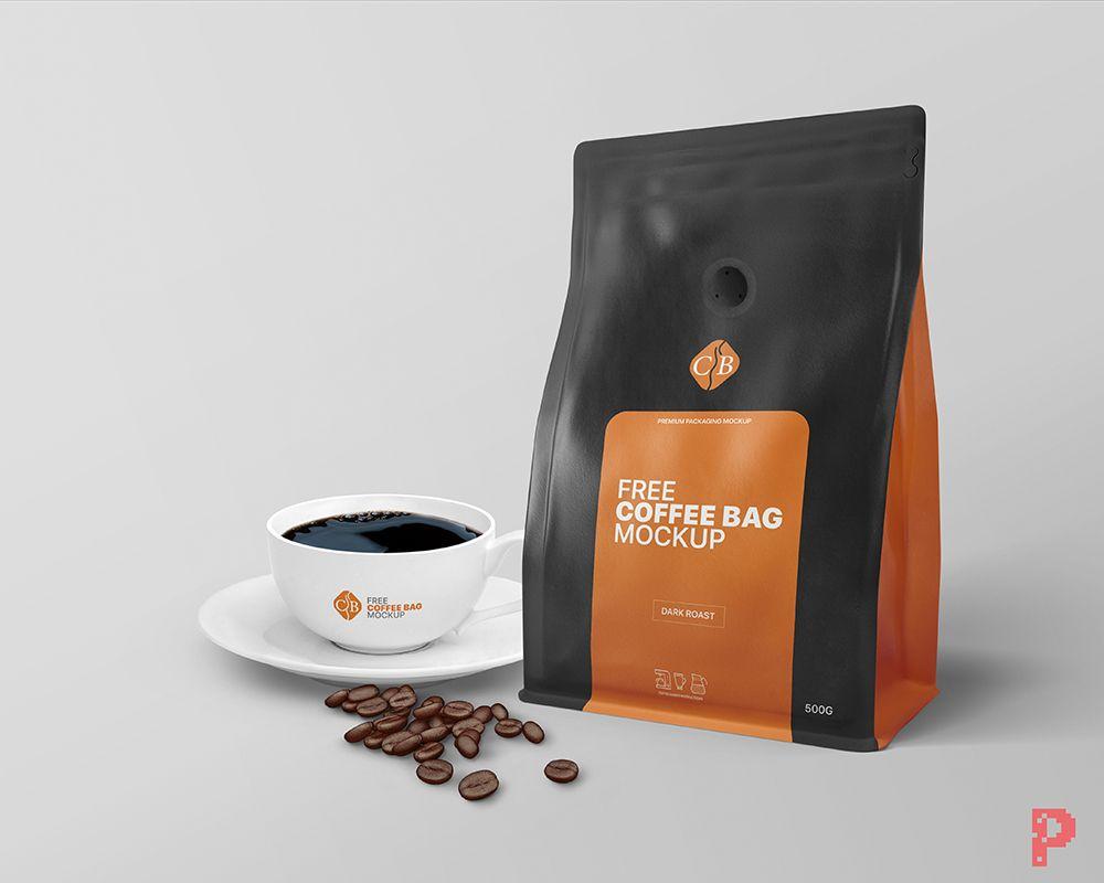 Download Free Coffee Bag Packaging Mockup Free Mockups Pixpine Packaging Mockup Free Coffee Branding Mockups