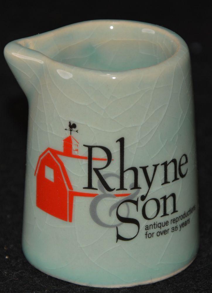 McCoy INDIVIDUAL CREAMER Rhyne & Son Antique Reproductions ADVERTISING Piece #MCCOY