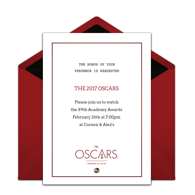free oscars red carpet invitations in 2018 sports awards