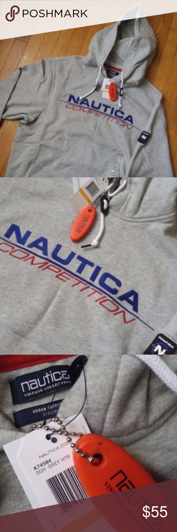 Nwt Nautica Competition Vintage Collection Hoodie Hoodies Sweatshirt Shirt Hoodies Men