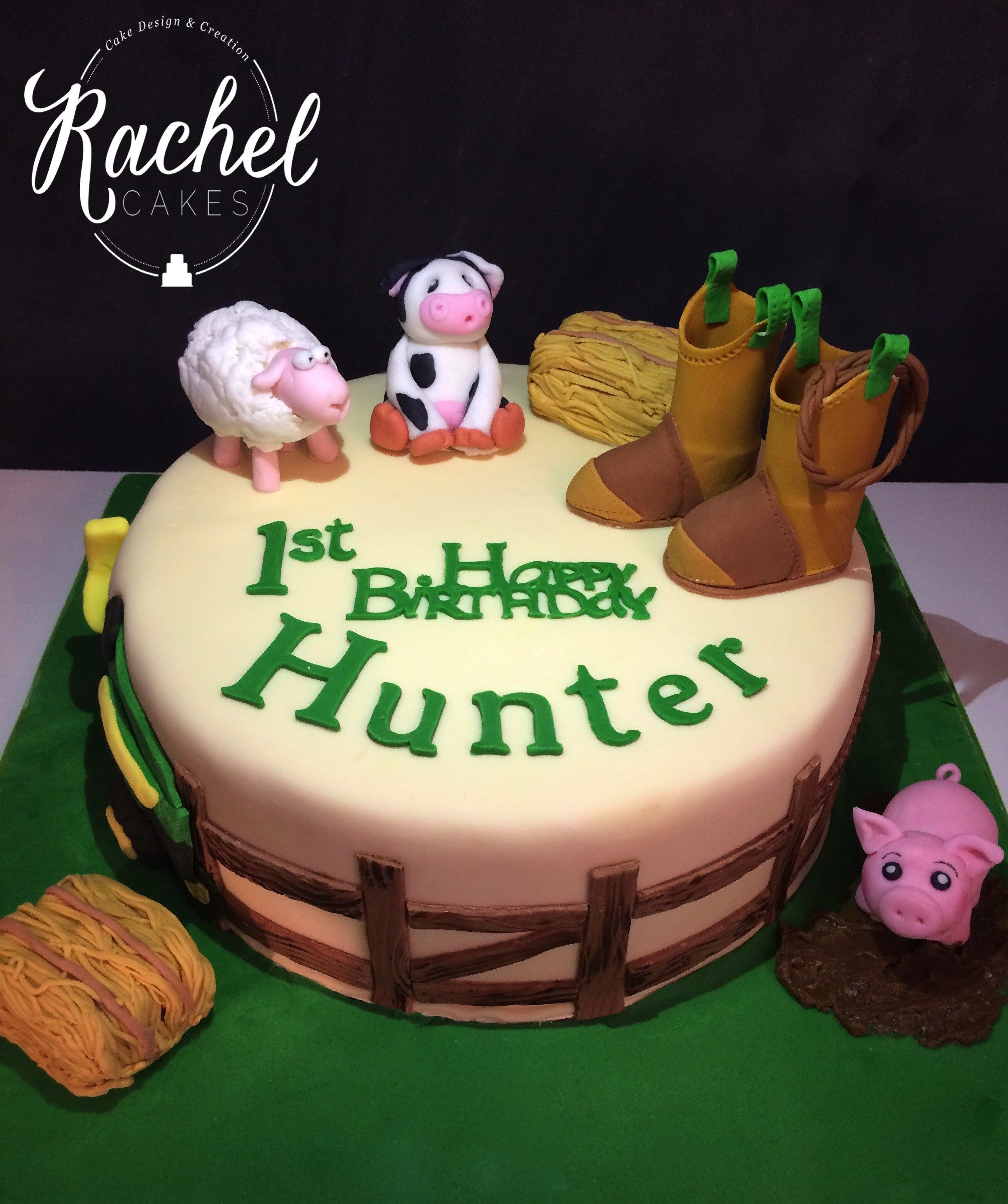 John Deere themed Birthday Cake for a 1st Birthday party Rachel