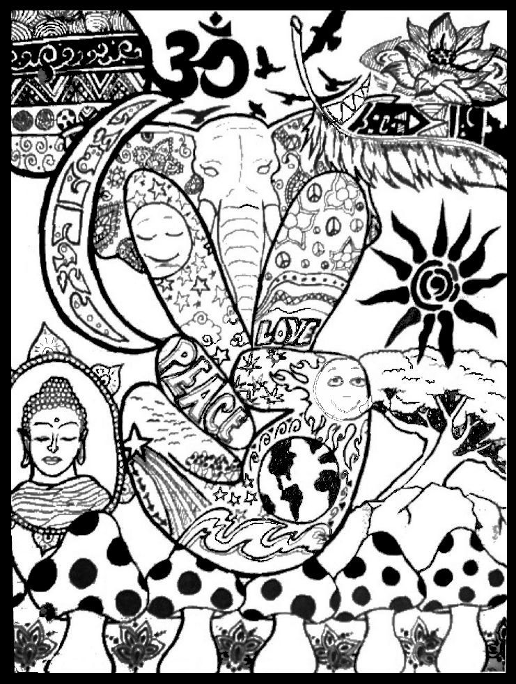 Hippie Stoner Coloring Pages : hippie, stoner, coloring, pages, Chakra, Squares