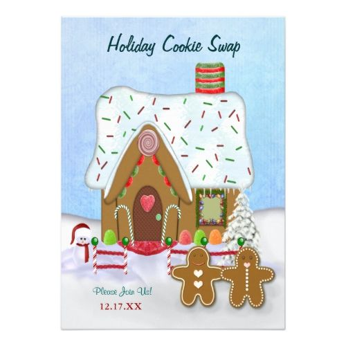 Christmas Cookie Exchange Party Invitation 2017 Christmas Card