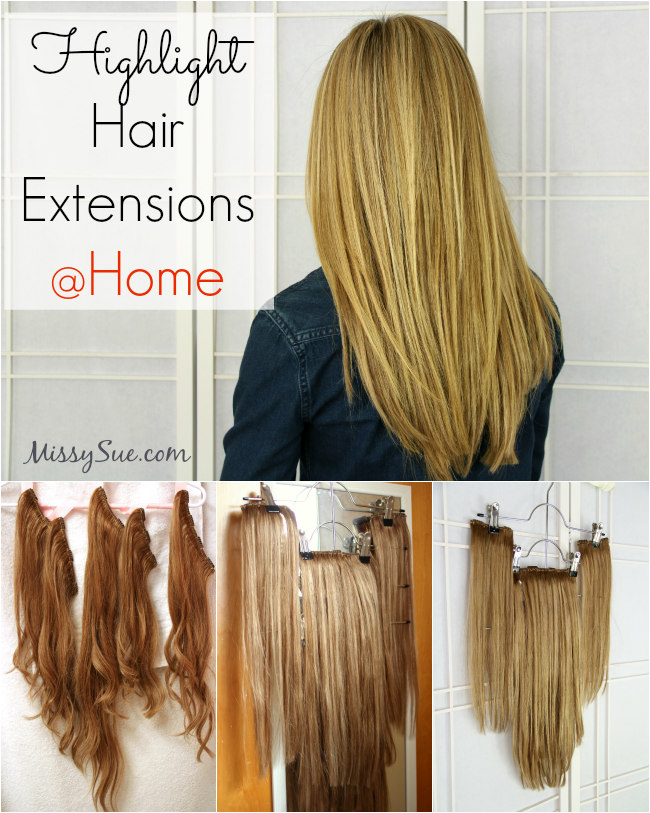 Highlight extensions at home missysue g how to highlight hair extensions pmusecretfo Choice Image