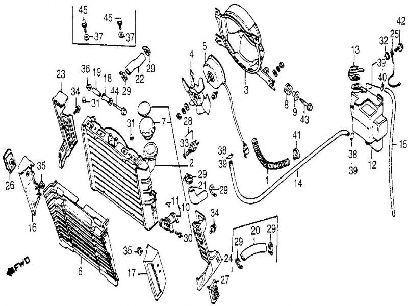 2000 ford taurus alternator wiring diagram 1997 ford taurus radiator diagram  dengan gambar   1997 ford taurus radiator diagram