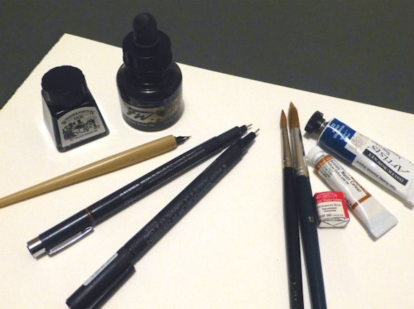 Line Amp Wash Materials You Need Pen And Wash Watercolour