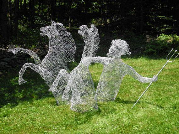Icharus Unleashed Flying Wire Mobile Sculpture от AngelsandAnimals ...
