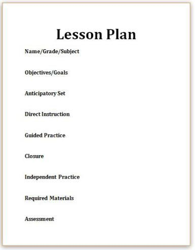 Top Components Of A WellWritten Lesson Plan Lesson Plan - Direct lesson plan template