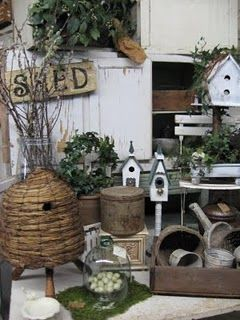 nice display of garden brocante