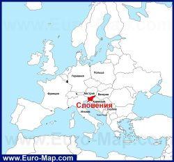 Sloveniya Na Karte Evropy Karta Niderlandy Sloveniya