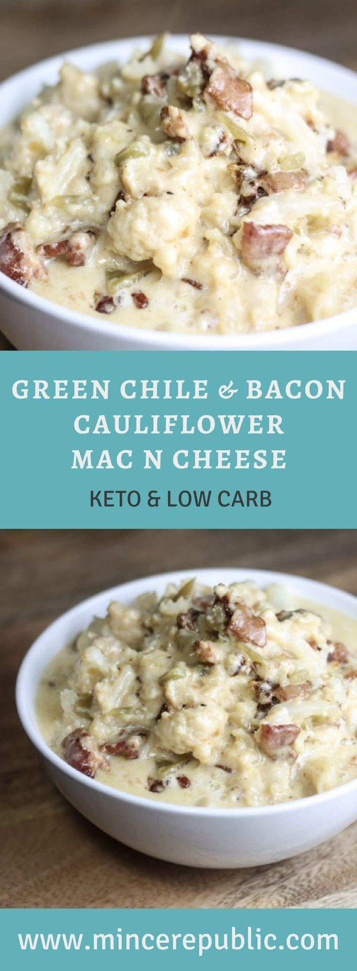 Green Chile Bacon Cauliflower Mac N Cheese Receita Com