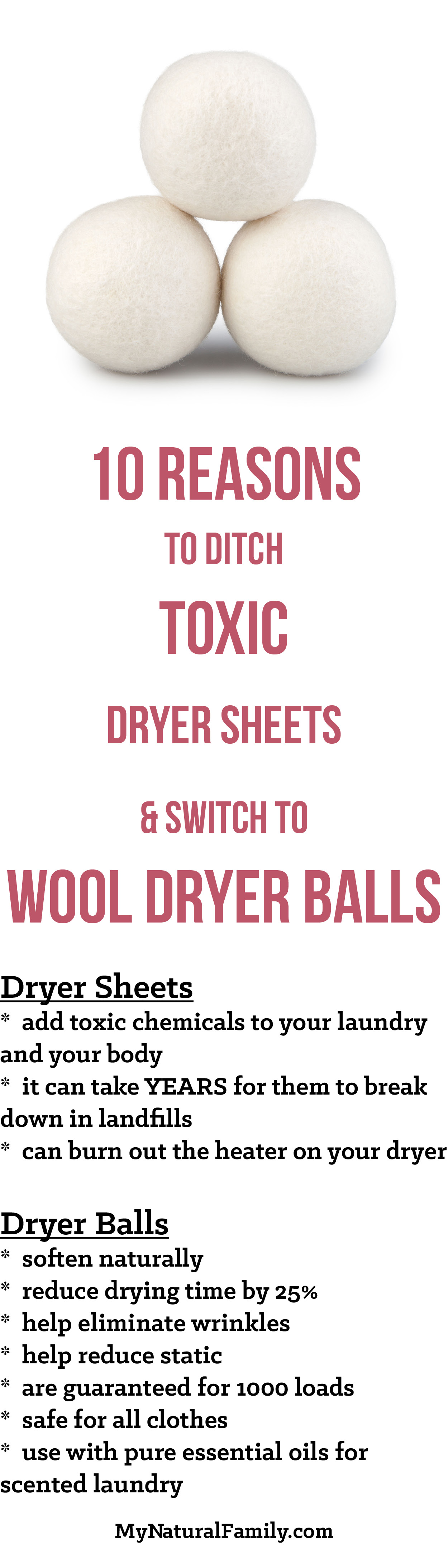 10 Reasons To Ditch Toxic Dryer Sheets Switch To Wool Dryer