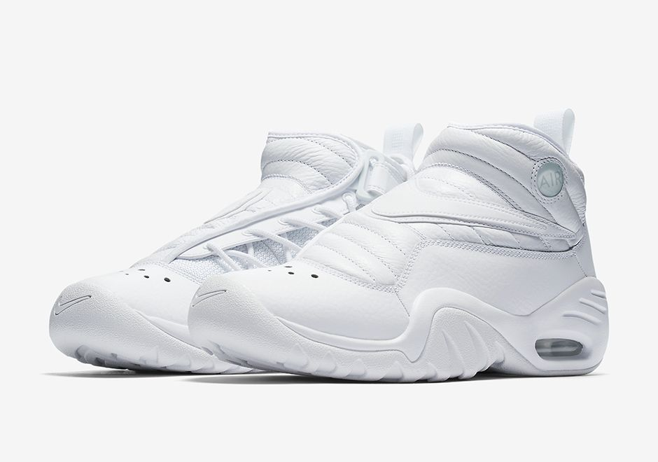 The Nike Air Shake NDestrukt Triple White (Style Code  880869-101) will  release later this Spring 2017 season featuring Dennis Rodman s retro in  all white. 2509e360b