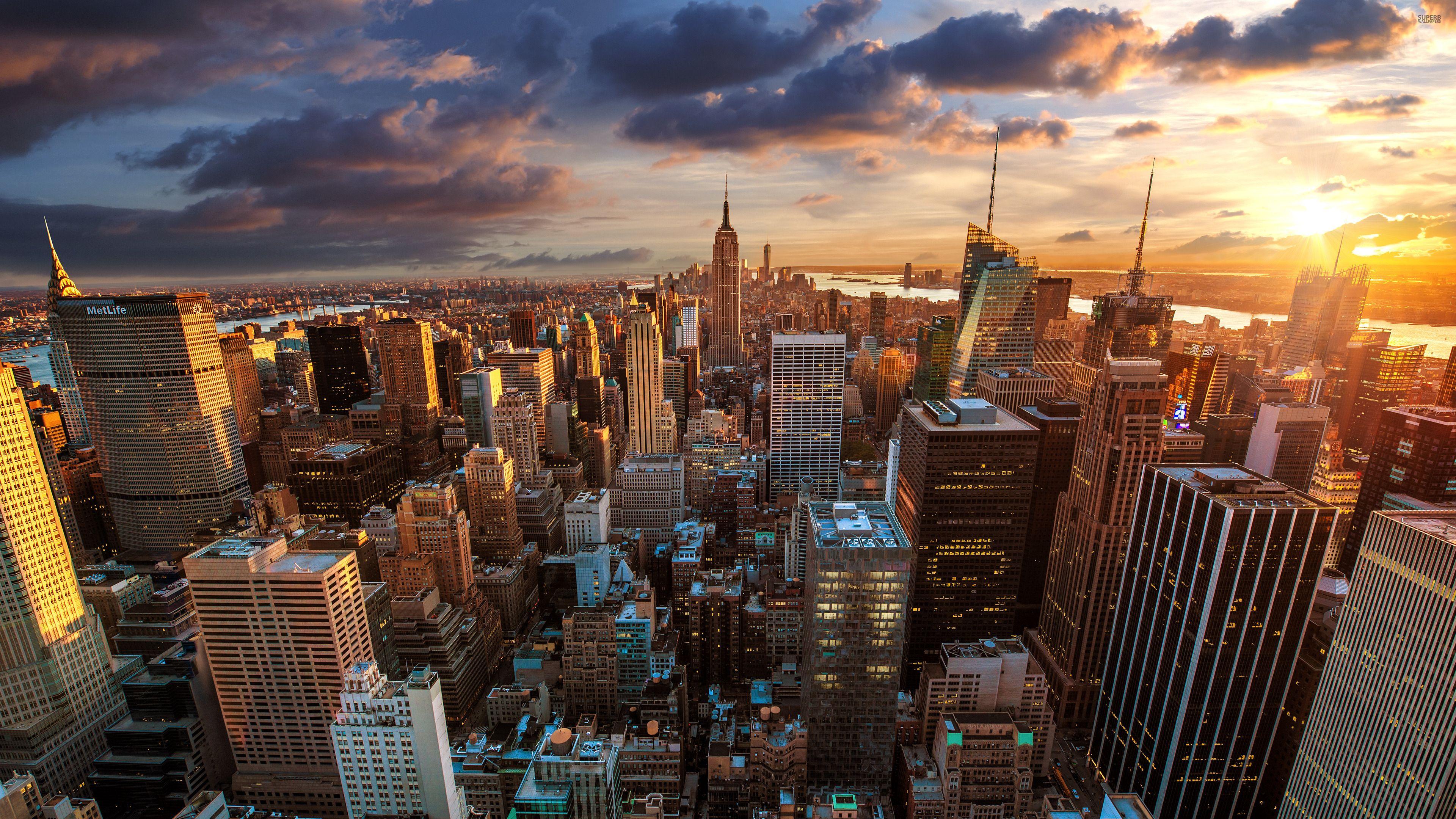 New York Skyline Wallpaper Free Desktop I HD Images