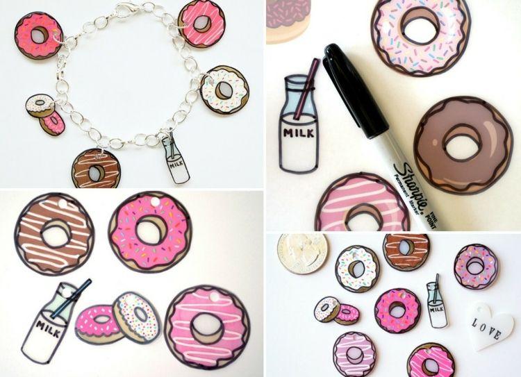 schrumpffolie basteln ofen backen donuts zeichnen filzstifte edding annef pinterest. Black Bedroom Furniture Sets. Home Design Ideas