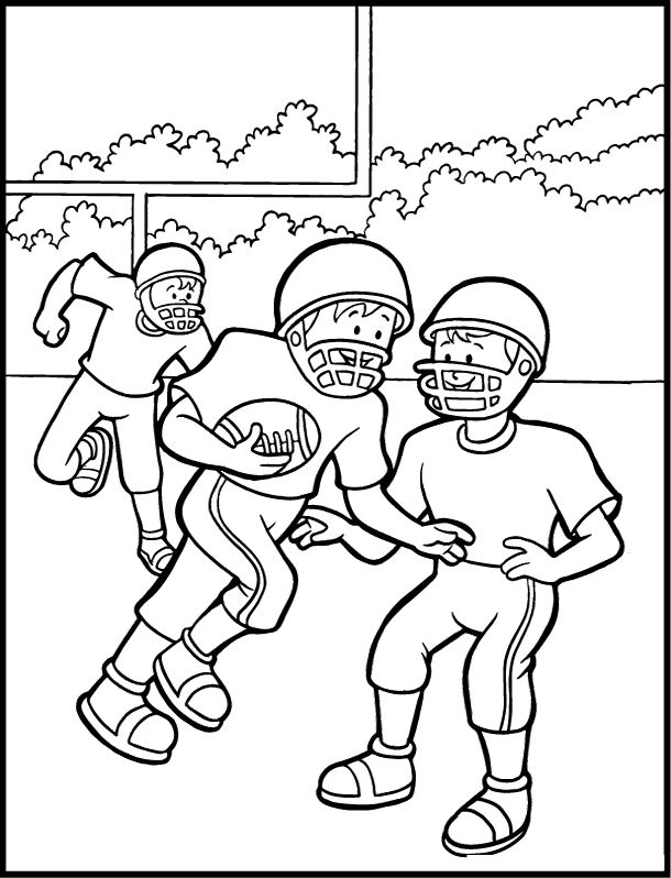 Football Coloring Pages Online DRAWING Pinterest - new coloring page of a hockey player