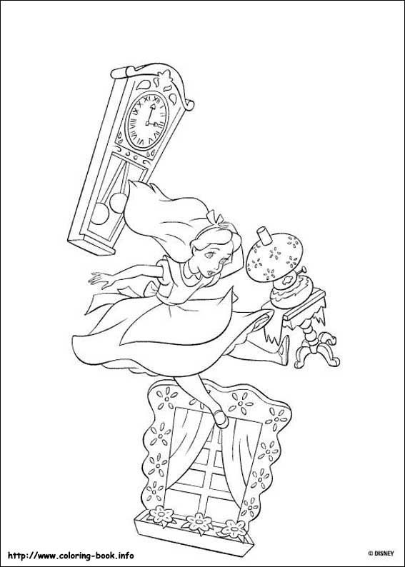 Alice in Wonderland coloring picture | coloring sheets | Dibujos ...