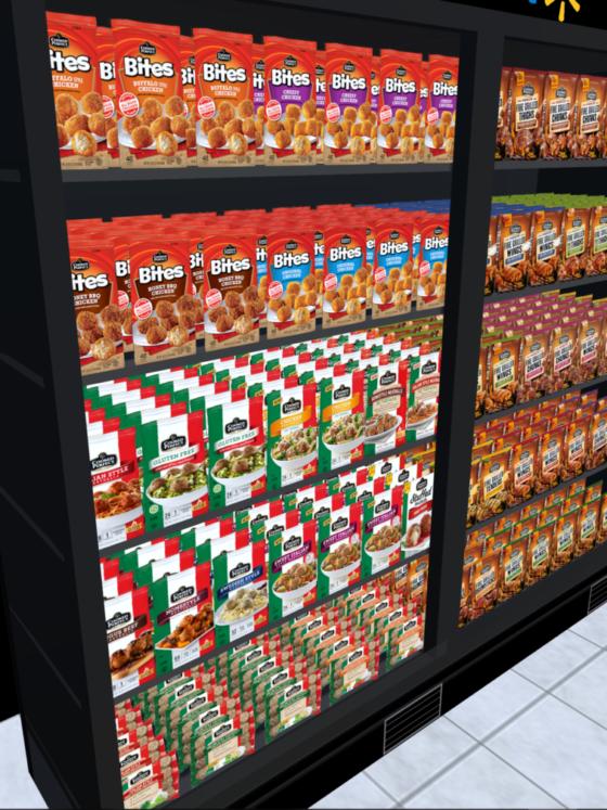 Visual Merchandising example of fridge planogram for in a
