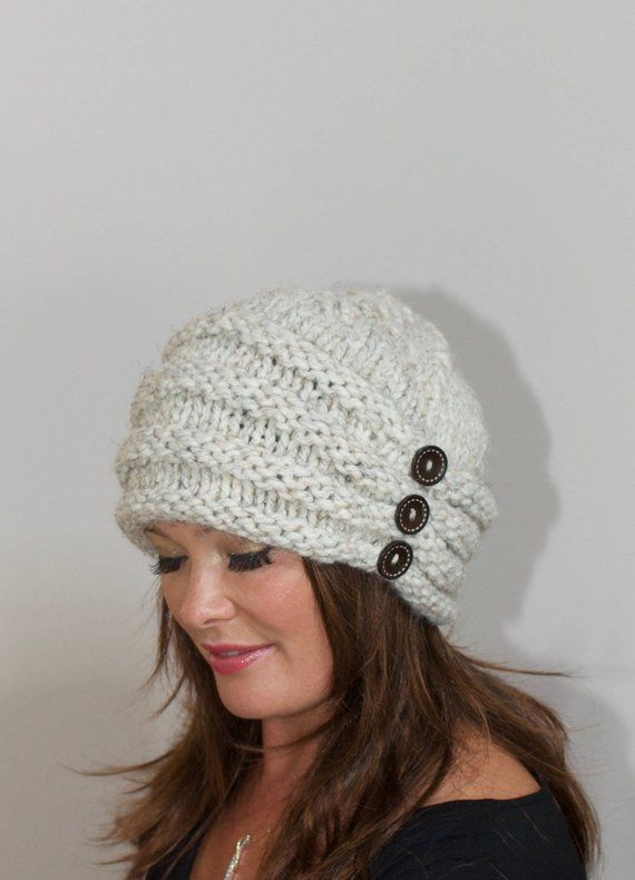 Slouchy Beanie Hat Turban Hat Knit winter women hat Slouchy Beanie CHOOSE  COLOR Wheat Off White Beig f68362bac409