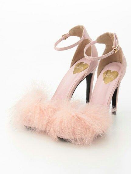 pink pom-pom heels.   Girly shoes, Diy