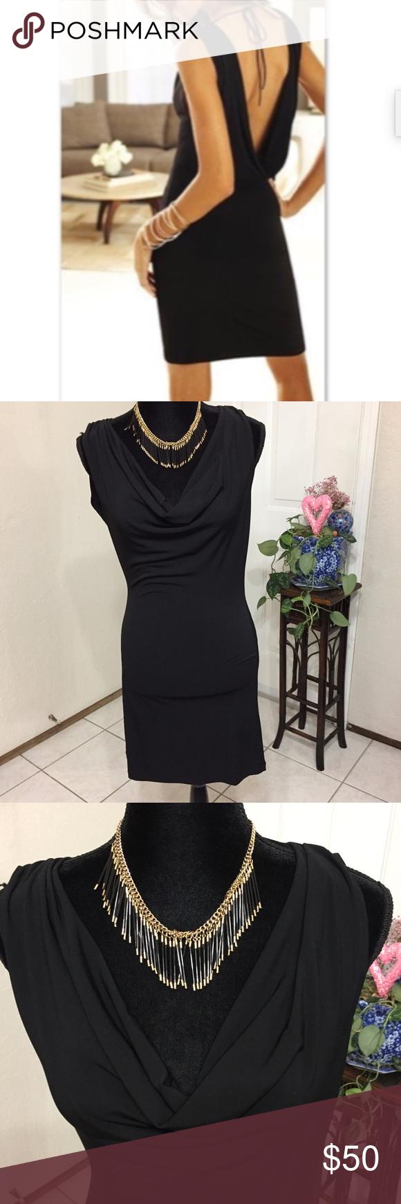 Victoria S Secret Cowl Neck And Open Back Dress Open Back Dresses Dress Backs Dresses [ 1740 x 580 Pixel ]