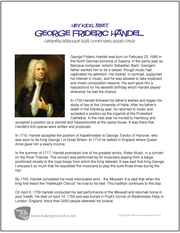 The Great Piano Works of George Frideric Handel