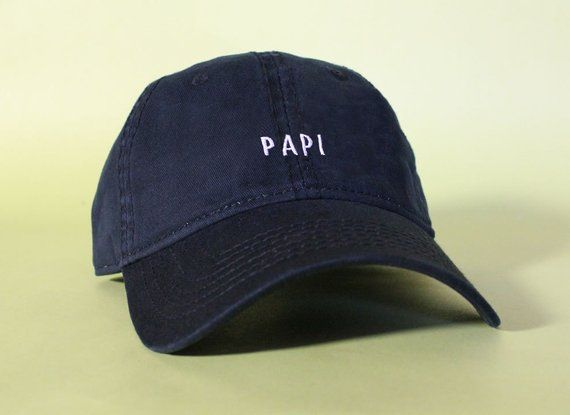 ce1915cacd1 NEW Papi Baseball Hat Dad Hat Low Profile White Pink Black Casquette  Embroidered Unisex Adjustable S