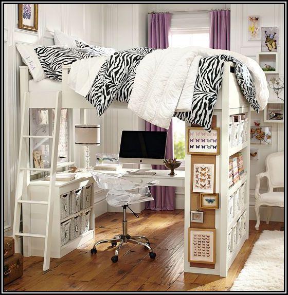 Queen Loft Bed With Desk Underneath Queen Loft Beds Girls