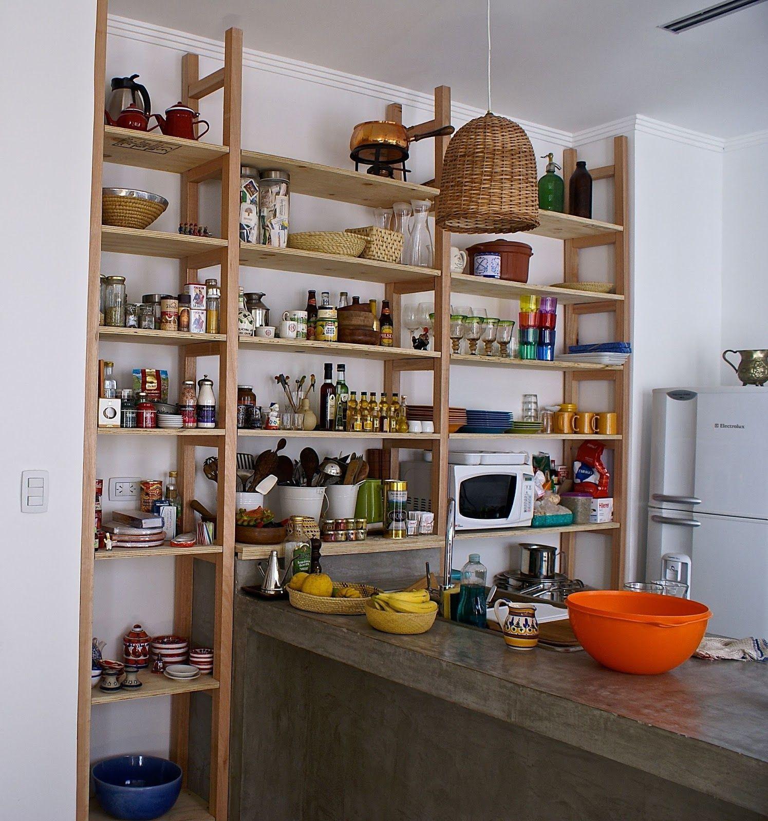 La casa del limonero la estanter a para la cocina - Estanterias pared cocina ...