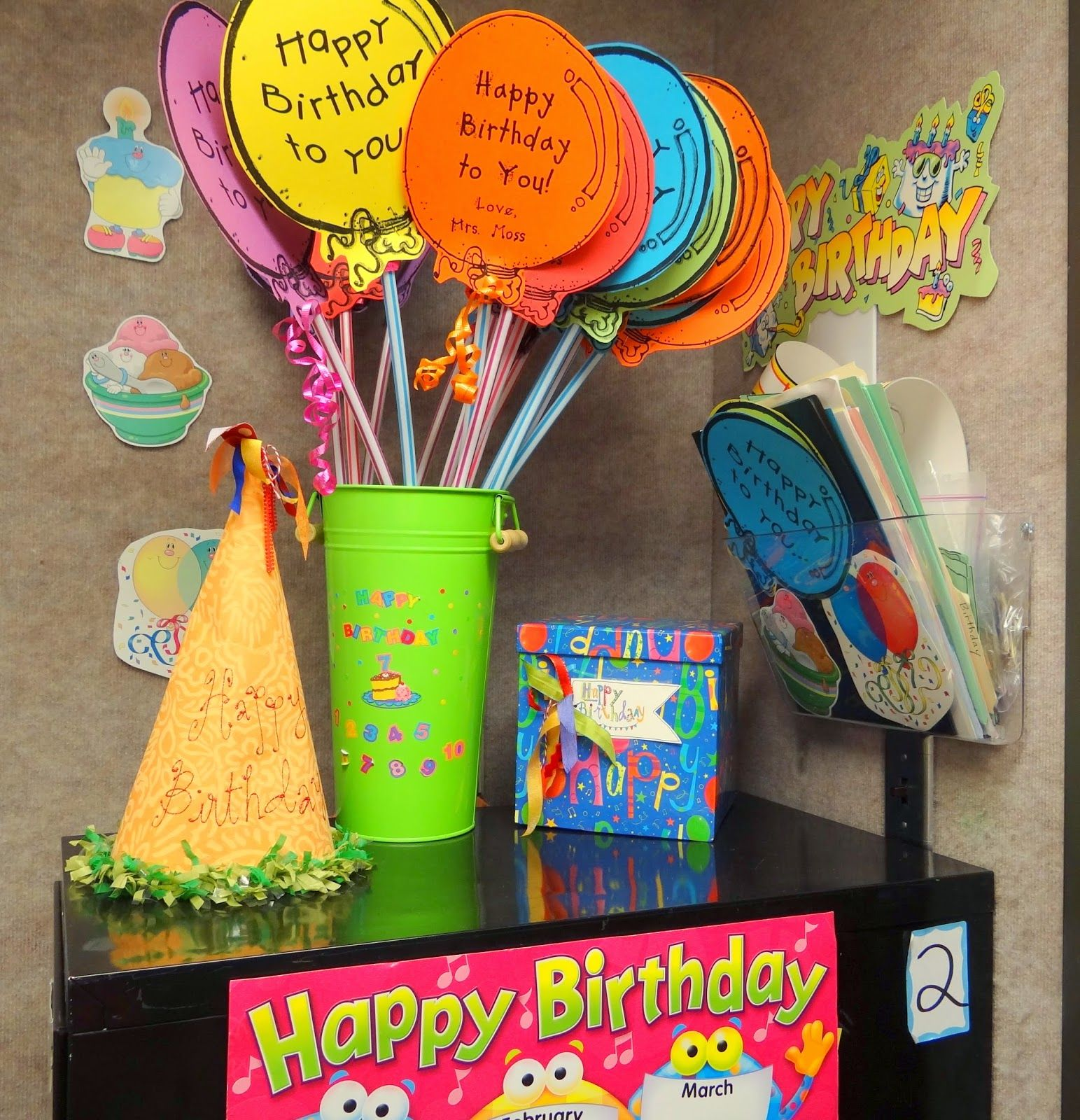 Classroomdecorating This Is The Birthday Corner With