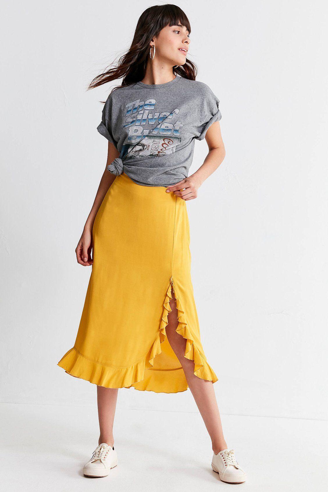 afb0c876034c Capulet Willow Ruffle Midi Skirt | Dresses | Skirts, Leggings are ...