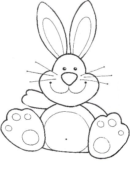 Moldes de conejo de pascua en goma eva - Imagui | conejo | Pinterest ...
