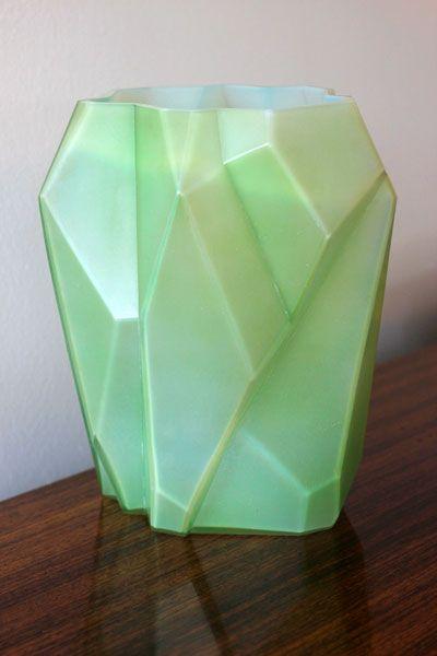 American Art Deco Ruba Rombic vase, c1930.