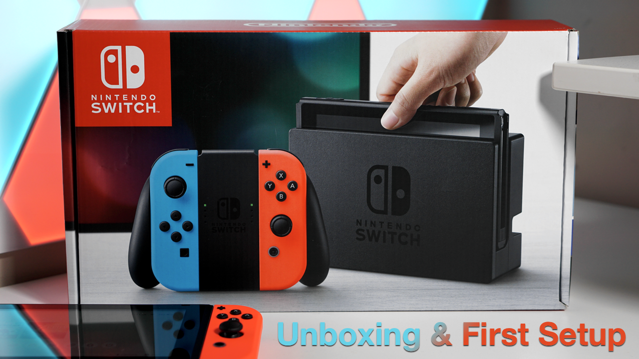 Nintendo Switch Unboxing And First Setup Nintendo Switch Grey Consoles Switch