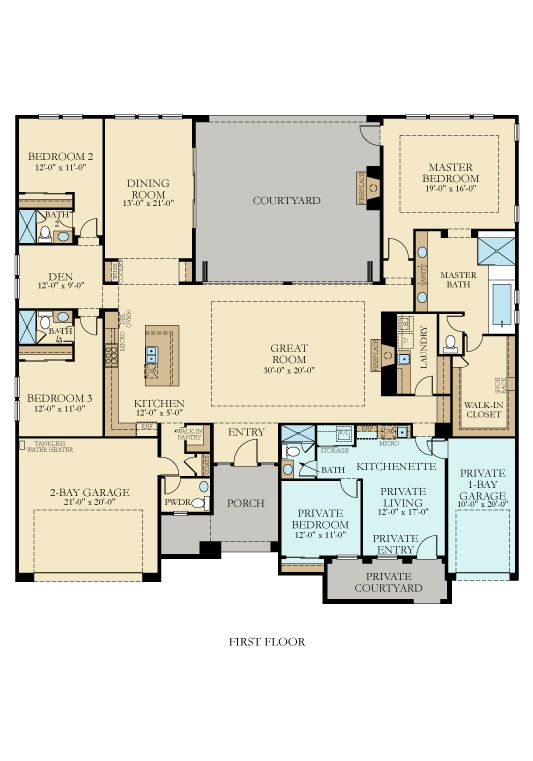 Floor Plan New House Plans Ranch House Plans Multigenerational House Plans