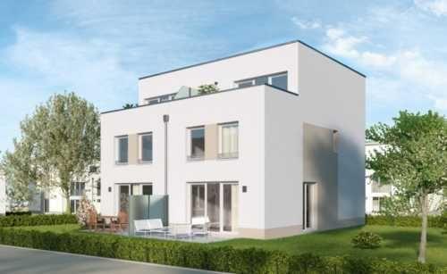 Neubau moderne Doppelhaushälfte