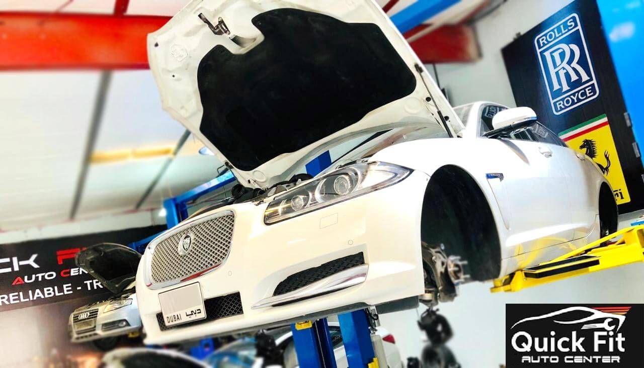 Jaguar XF Suspension and Major Service in Dubai Customer