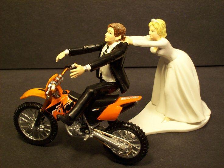 Dirt Bike Wedding Cake Topper | Wedding Cake Topper | Pinterest ...