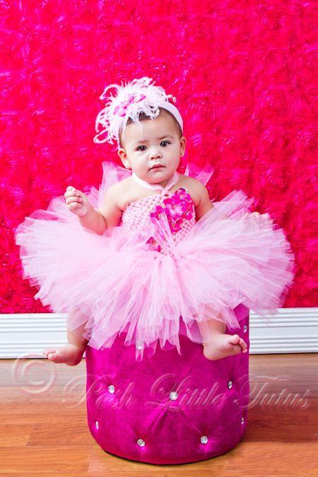 d7081228af3 Haute Baby Pink Flair   Frills Baby Tutu Dress