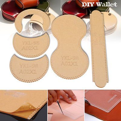 DIY Acrylic Template Tool Kit For Mini Coin Purse Wallet Leather Craft Pattern
