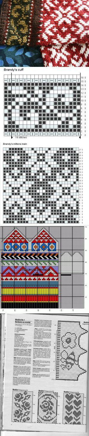Джурабы   Fair isles, Mittens and Chart