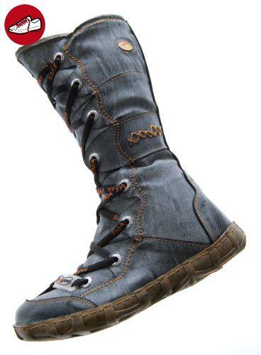 Leder Winter Schuhe Gefüttert Schwarz Stiefel Damen Tma IbfmY7gyv6
