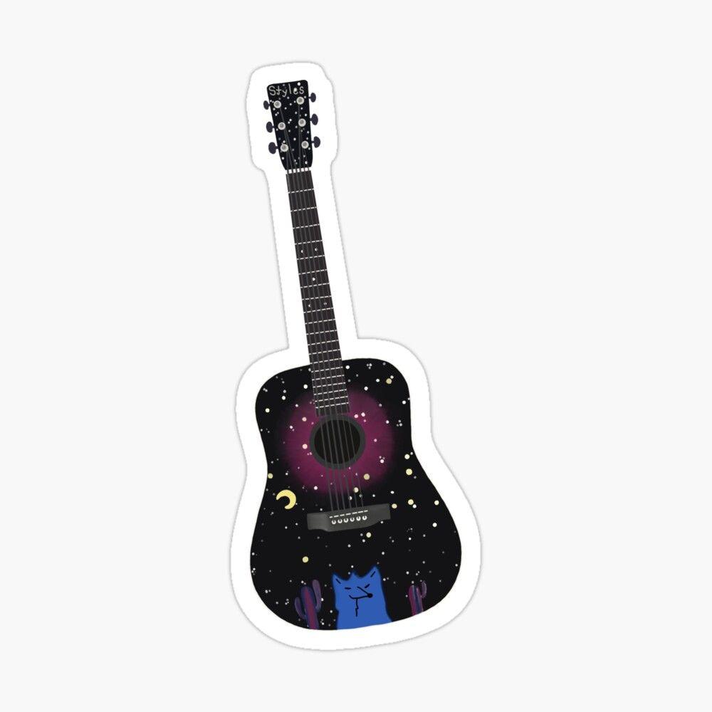 Harry Styles Guitar Sticker By Etb224 Harry Styles Guitar Stickers Coloring Stickers